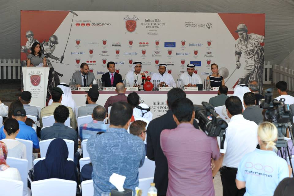 IHC Beach Polo press conference a full house